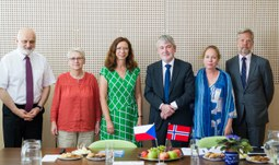 Ambassador of the Kingdom of Norway visited the University of South Bohemia