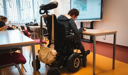 Handicapped French student fulfilling his dream at USB