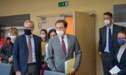 The Ambassador of France to the Czech Republic has visited the University of South Bohemia