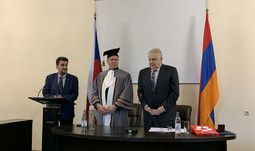 The rector of USB and its representatives in Armenia