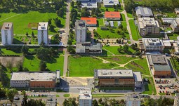 The university started 2nd stage of campus improvements project and building of new parking lot