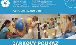 Centrum fyzioterapie ZSF JU nabízí dárkové poukazy na léčebnou rehabilitaci, fyzioterapii nebo regeneraci