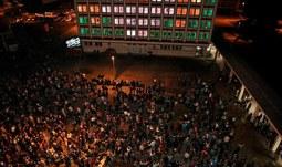 Kampus oživila světelná show
