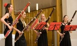 Na Adventním koncertu zahrály Dudlajdá fagotiky