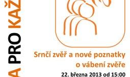 Pozvánka na workshop Srnčí zvěř a nové poznatky o vábení zvěře / 22. 3.