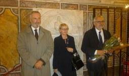 Pracovní návštěva rektora Libora Grubhoffera u Svatého stolce