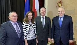 Rektor Jihočeské univerzity a zástupci vedení JU v Arménii