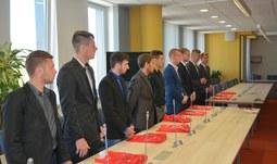 Rektor poděkoval fotbalistům za reprezentaci univerzity