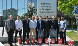 Rektor poděkoval hokejistům za reprezentaci univerzity
