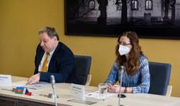 Slavnostní podpis smlouvy o spolupráci se státní univerzitou v Baku