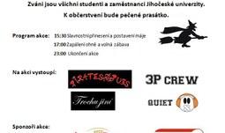 Studenti Zemědělské fakulty postaví u kolejí májku/ 30.4.