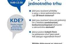 Výzvy a příležitosti jednotného trhu - pozvánka na panelovou diskuzi / 17. 10.
