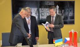 Zástupci univerzit z Ternopilu a Deggendorfu navštívili Jihočeskou univerzitu v Českých Budějovicích